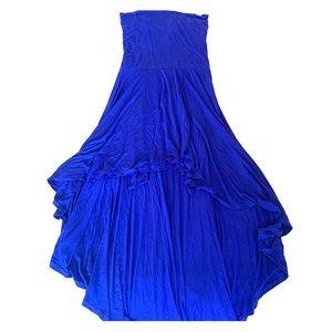 Royal Blue High Low Dress